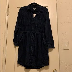 Calvin Klein dark denim button down dress